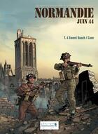 Couverture du livre « Normandie juin 44 T.4 ; Sword Beach / Caen » de Isabelle Bournier et Jean-Blaise Djian et Bruno Marivain aux éditions Vagabondages