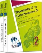 Couverture du livre « Dreamweaver CC et Flash Professional CC ; coffret ; concevoir sites Web full CSS et animations flash » de Christophe Aubry aux éditions Eni