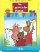 Couverture du livre « Bon Anniversaire Ourson » de Max Velthuijs aux éditions Epigones