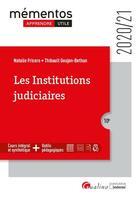 Couverture du livre « Les institutions judiciaires (édition 2020/2021) » de Natalie Fricero et Thibault Goujon-Bethan aux éditions Gualino