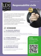 Couverture du livre « Responsabilité civile (3e édition) » de Stephane-Laurent Texier aux éditions Enrick B.