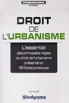 Couverture du livre « Droit de l'urbanisme » de Paul Salaun aux éditions Studyrama