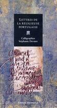 Couverture du livre « Lettres de la religieuse portugaise » de Devaux/Guilleragues aux éditions Alternatives