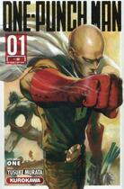 Couverture du livre « One-Punch Man T.1 ; un poing c'est tout ! » de Yusuke Murata et One aux éditions Kurokawa