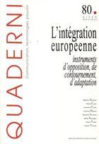 Couverture du livre « QUADERNI » de Sabine Saurugger aux éditions Maison Des Sciences De L'homme