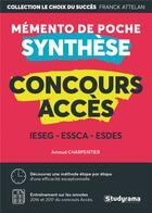 Couverture du livre « Concours ACCES ; mémento de poche synthèse » de Arnaud Charpentier aux éditions Studyrama