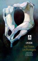 Couverture du livre « Les tristes ; les pontiques » de Ovide aux éditions Actes Sud