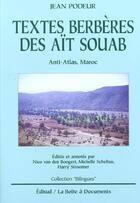 Couverture du livre « Textes Berberes Des Ait Souab ; Anti-Atlas Maroc » de Jean Podeur aux éditions Edisud