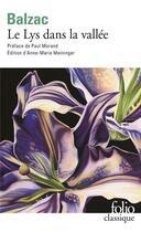 Couverture du livre « Le lys dans la vallée » de Honoré De Balzac aux éditions Gallimard