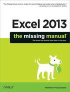 Couverture du livre « Excel 2013: The Missing Manual » de Matthew Macdonald aux éditions O'reilly Media
