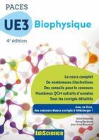 Couverture du livre « PACES UE3 biophysique ; manuel, cours + QCM corrigés (4e édition) » de Salah Belazreg et Remy Perdrisot et Jean-Yves Bounaud aux éditions Ediscience