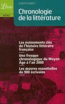 Couverture du livre « Chronologie de la litterature » de Joseph Vebret aux éditions J'ai Lu