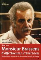 Couverture du livre « Pour vous, Monsieur Brassens d'