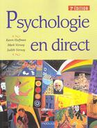 Couverture du livre « Psychologie En Direct » de Karen Huffman et Judith Vernoy et Mark Vernoy aux éditions Modulo