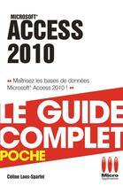 Couverture du livre « Access 2010 » de Sparfel-C aux éditions Micro Application