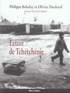 Couverture du livre « Lettre de Tchétchénie » de Philippe Bohelay et Olivier Daubard aux éditions Bleu Autour