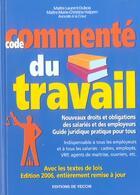 Couverture du livre « 06 code commente du travail (édition 2006) » de Laurent Dubois aux éditions De Vecchi