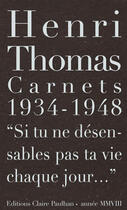 Couverture du livre « Carnets 1934-1948