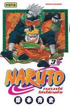 Couverture du livre « Naruto T.3 » de Masashi Kishimoto aux éditions Kana