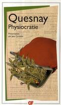 Couverture du livre « Physiocratie » de Francois Quesnay aux éditions Flammarion