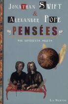 Couverture du livre « Pensées sur différents sujets » de Jonathan Swift et Alexandre Pope aux éditions La Nerthe Librairie