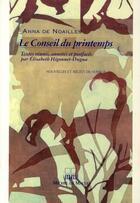 Couverture du livre « Le conseil du printemps » de Noailles aux éditions Michel De Maule