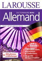 Couverture du livre « Dictionnaire mini allemand » de Nathalie Novi et Halima Hamdane aux éditions Larousse