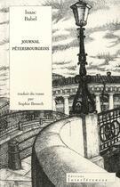 Couverture du livre « Journal pétersbourgeois » de Isaac Babel aux éditions Interferences