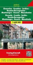 Couverture du livre « Slovénie, Croatie, Serbie, Monténégro » de  aux éditions Freytag Und Berndt