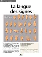 Couverture du livre « La langue des signes » de Collectif aux éditions Aedis