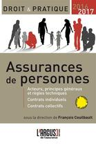 Couverture du livre « Assurance de personnes (édition 2016/2017) » de Francois Couilbault aux éditions L'argus De L'assurance