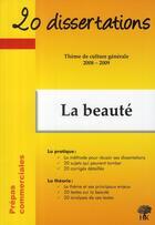 Couverture du livre « 20 dissertations ; thème de culture générale 2008-2009 ; prépas commerciales » de Anne Staszak aux éditions H & K