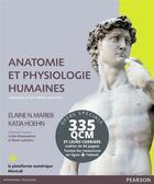 Couverture du livre « Anatomie et physiologie humaine ; 335 QCM et leurs corrigés (9e édition) » de Elaine N. Marieb et Katja Hoehn aux éditions Pearson