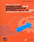 Couverture du livre « Director 8.5 schockwave ; studio pour la 3d » de Christine Eberhardt aux éditions Peachpit Press