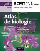 Couverture du livre « Atlas de biologie ; bcpst ; 1ère et 2e années » de Valerie Boutin et Agnes Esmond-Despres et Stephanie De Pazzis-Aubagnac aux éditions Dunod