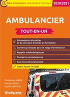 Couverture du livre « Ambulancier tout-en-un 2020/2021 (édition 2020/2021) » de Collectif aux éditions Studyrama