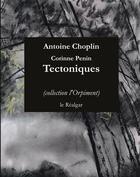 Couverture du livre « Tectoniques » de Antoine Choplin et Corinne Penin aux éditions Le Realgar