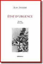 Couverture du livre « Etat D'Urgence » de Jean Joubert aux éditions Editinter
