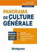 Couverture du livre « Panorama de culture générale » de Katarzyna Fossati aux éditions Studyrama