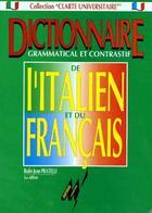 Couverture du livre « Dictionnaire grammatical et constratif de l'Italien et du Français » de Rufin Jean Pratelli aux éditions Martorana