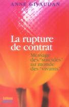 Couverture du livre « La rupture de contrat ; messages des