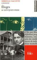 Couverture du livre « Éloges de Saint-John Perse » de Mireille Sacotte aux éditions Gallimard