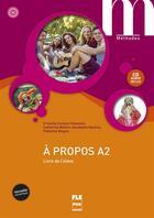 Couverture du livre « A Propos A2-Livre Eleve+Cd- Nvelle Couv » de Metton Alii aux éditions Pu De Grenoble