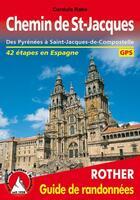 Couverture du livre « Chemin de St-Jacques ; des Pyrénées à Saint-Jacques-de-Compostelle ; 41 étapes en Espagne » de Cordula Rabe aux éditions Rother