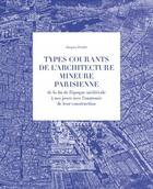 Couverture du livre « Types courants de l'architecture mineure parisienne » de Jacques Fredet aux éditions La Villette