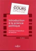 Couverture du livre « Introduction à la science politique (8e édition) » de Dominique aux éditions Dalloz