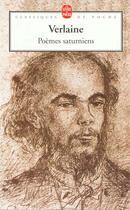Couverture du livre « Poèmes saturniens » de Paul Verlaine aux éditions Lgf