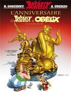 Couverture du livre « Astérix t.34 ; l'anniversaire d'Astérix et Obélix ; le livre d'or » de Rene Goscinny et Albert Uderzo aux éditions Albert Rene