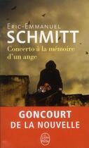 Couverture du livre « Concerto à la mémoire d'un ange » de Éric-Emmanuel Schmitt aux éditions Lgf