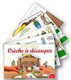 Couverture du livre « Crèche à découper » de Judie aux éditions Saint Jude